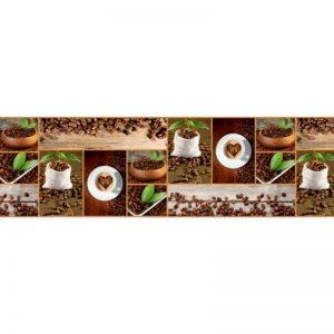Фартук кухонный пластиковый 3х0,6 метра Кофе, зёрна 9551