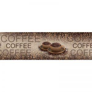 Фартук кухонный пластиковый 3х0,6 метра Кофе, зёрна 9553