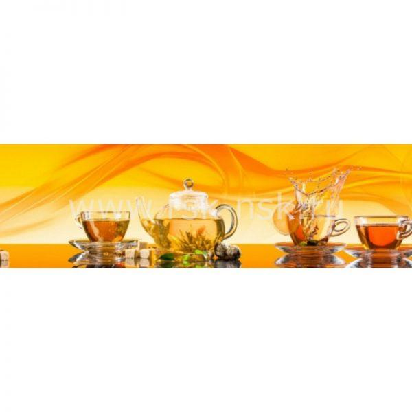 Фартук кухонный пластиковый 3х0,6 метра Чай 9556