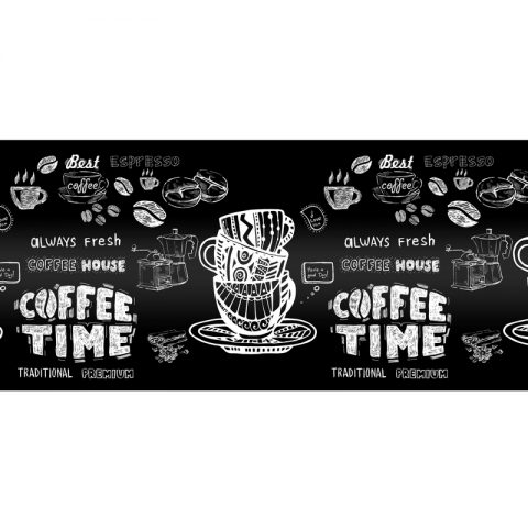 "Фартук кухонный пластиковый 3 метра ""Кофе time"" (Лайт)"