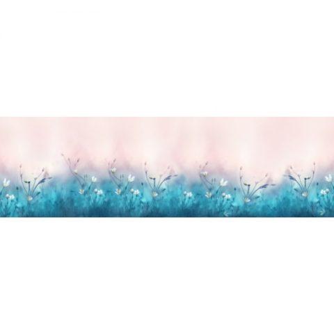 Фартук кухонный пластиковый 3х0,6 метра Цветы 9645