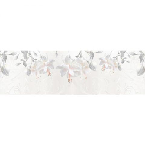 Фартук кухонный пластиковый 3х0,6 метра Цветы 9654