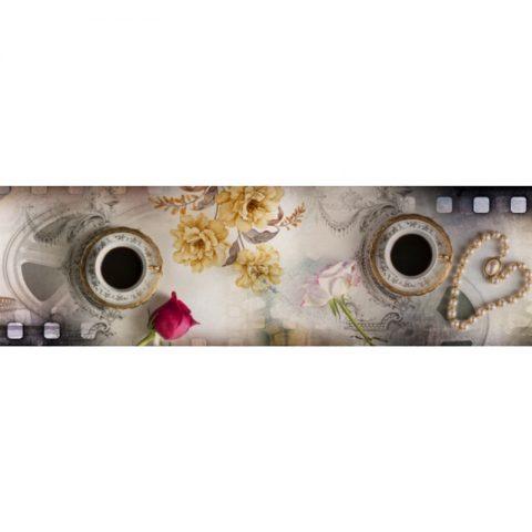 Фартук кухонный пластиковый 3х0,6 метра Кофе 9655