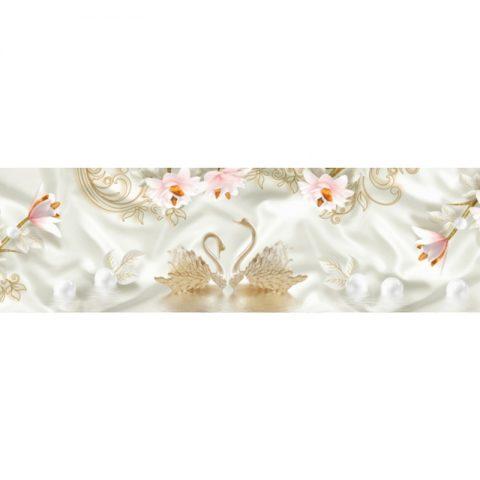 Фартук кухонный пластиковый 3х0,6 метра Цветы 9661