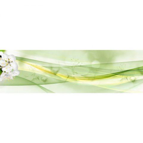 Фартук кухонный пластиковый 3х0,6 метра Цветы 9663