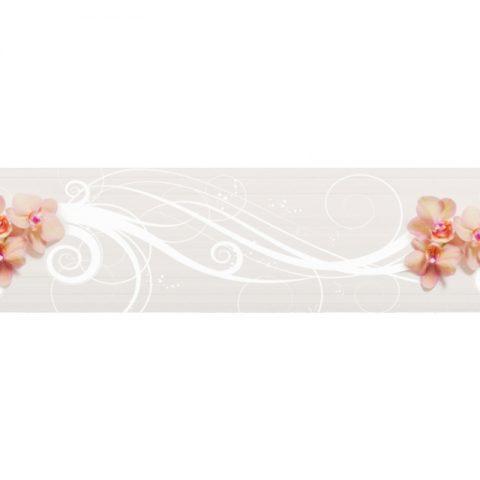 Фартук кухонный пластиковый 3х0,6 метра Цветы 9708