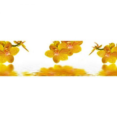 Фартук кухонный МДФ 2,8х0,6 метра Жёлтые орхидеи 8997