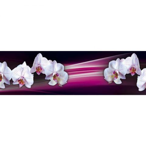 Фартук кухонный МДФ 2,8х0,6 метра Белые орхидеи 9566