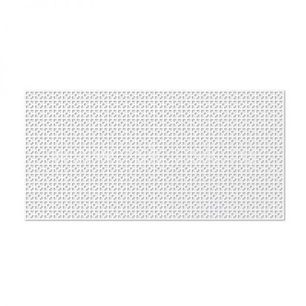 Дамаско Белый Панель перфорированная 120х60 см