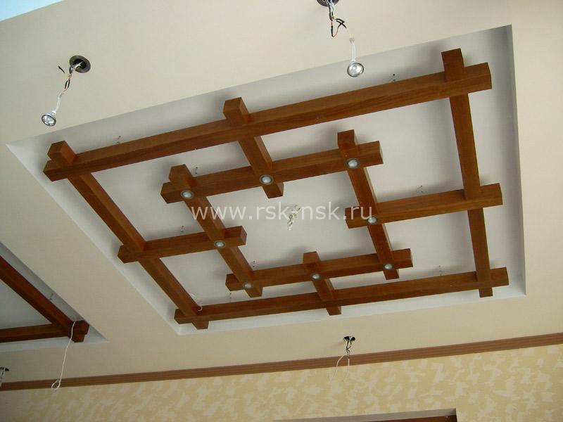 деревяный потолок