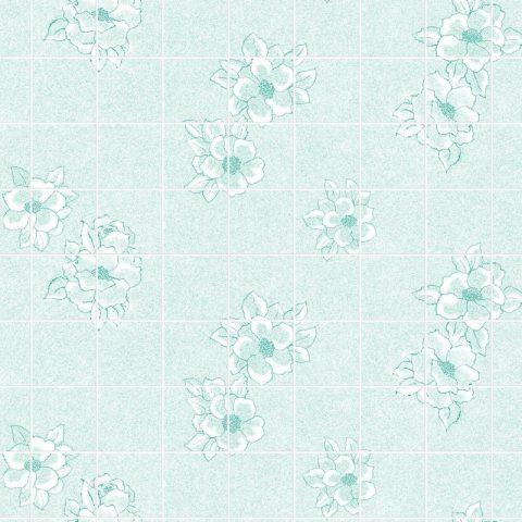 Магнолия зеленая 15х15 см. Стеновые панели влагостойкие листовые