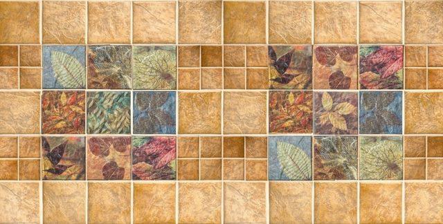 Листья в камне. Панели пластиковые листовые. Мозаика