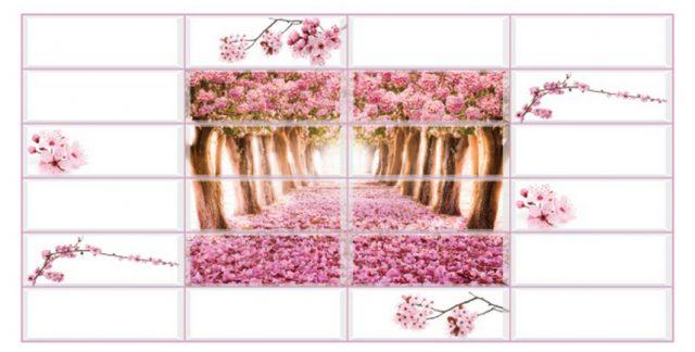 Райский сад. Панели пластиковые листовые. Мозаика