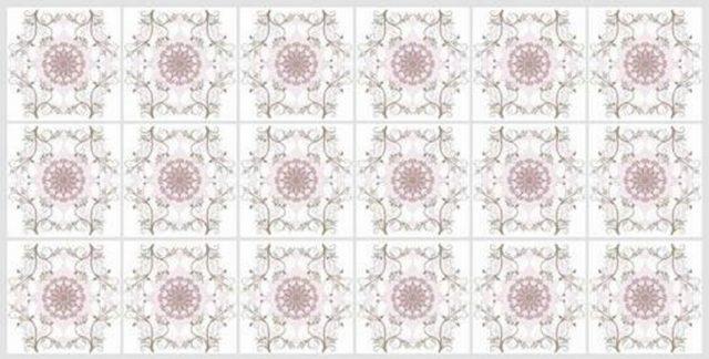 Цветочный орнамент. Панели пластиковые листовые. Мозаика