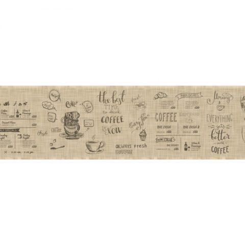 Фартук кухонный пластиковый 3х0,6 метра Меню 10985