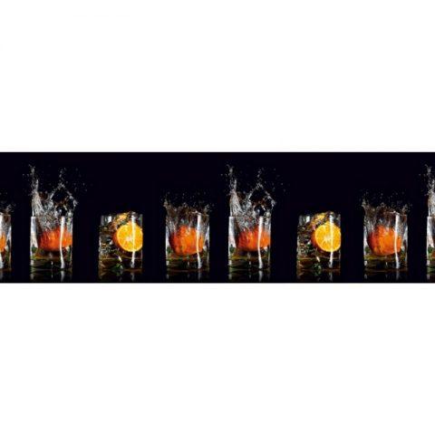 Фартук кухонный пластиковый 3х0,6 метра Апельсины 10999