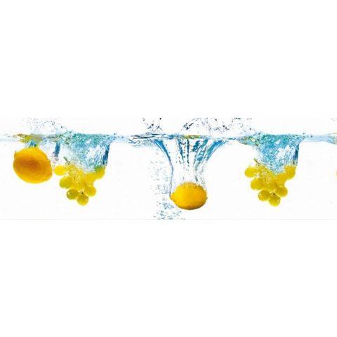 Фартук кухонный пластиковый 3х0,6 метра Лимоны 11006