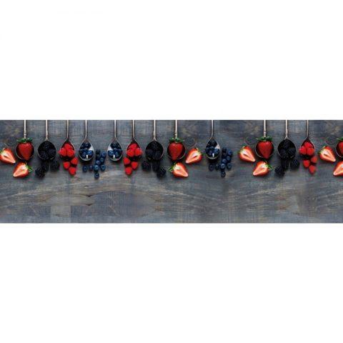 Фартук кухонный пластиковый 3х0,6 метра Ягоды 11007