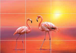Фламинго- приближение части декора